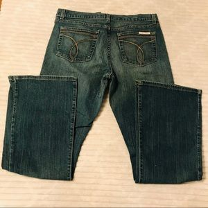 Calvin Klein Flare Leg  Faded Jeans Size 12 31